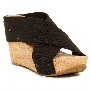 Lucky Brand Miller Platform Wedge Sandal Size 8.5